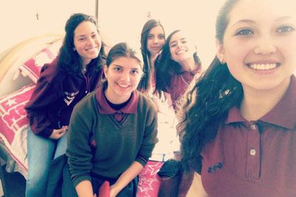 Von links nach rechts: Alessandra, Ich, Fati, Cami und Emi