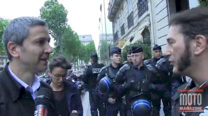 Motomag.com : la FFMC IdF interpelle Christophe Najdovski (hôtel Raphaël, Paris 16ème, mardi 24 mai 2016)