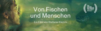 """Banner mit Frau und Fisch zum Film """"Von Fischen und Menschen"""""""