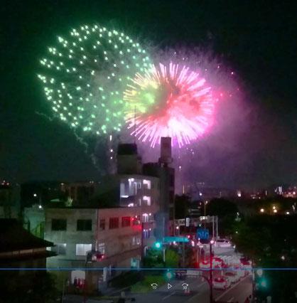 西日本大濠花火大会 / マニフレックスは、マニステージ福岡へ。