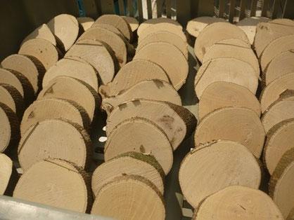 みかんの木のクラフトの材乾燥中 はし置き&パズル
