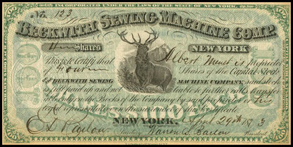 Beckwith S.M. Company - Shares - New York - April 29 th 1873