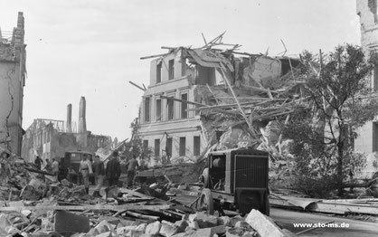 Die Aegidiistraße im Oktober 1943 - Foto Carl Pohlschmidt ULB Münster