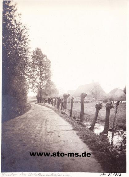 Weg an der Gasselstiege vor 100 Jahren