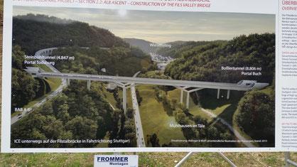 An der Brücke, über die (irgenwann) mal die Bahn Stuttgart-Ulm fahren wird...
