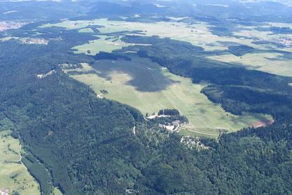 Klippeneck Segelflugplatz Luftaufnahme
