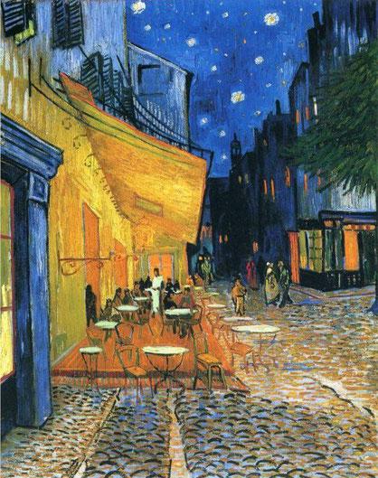 Ночная терраса кафе - Винсент Ван Гог. Самые известные картины Ван Гога
