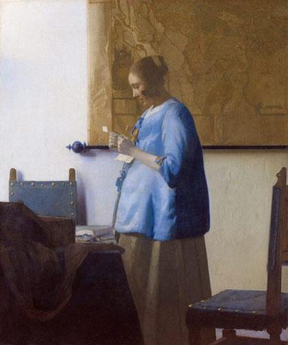 Знаменитые картины Яна Вермеера - Женщина, читающая письмо