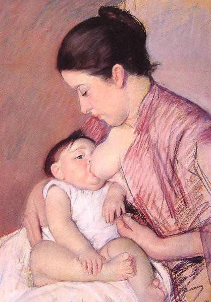 Peinture de Mary Cassat, Maternité, 1890