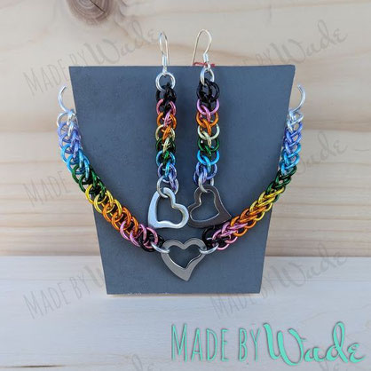 earrings, rainbow, pride