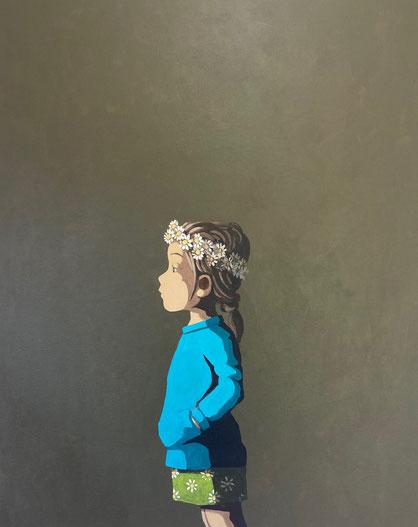daisies - Acryl auf Leinwand, 80x60cm, 2021   verkauft