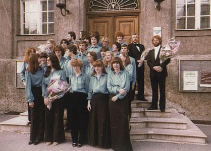 Erste Konzertreise 1980 ins Ausland nach Salzburg unter Josef Fillips