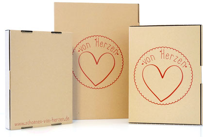 Geschenkverpackung für Herzbilder