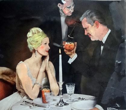 Die Verführung, Collage, 2002, 23x20 cm