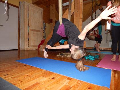 stage yoga aérien sud france jyoti yogi