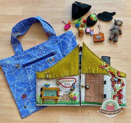 Spielbuch, Zauberer, Tasche, Quiet book, Activity book, Reisespielzeug