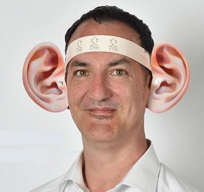 Das einfachste Hörgerät der Welt! Die selbst entwickelten und produzierten Papp-Ohren des Hörspezialisten von Kameke