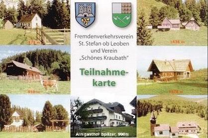 Teilnahmekarte € 1 bei den Hütten erhältlich!