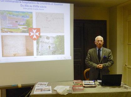 Régis Déroudille, membre de la Société d'histoire de l'Ordre Souverain de Malte et du Bureau des Amis du Vexin Français