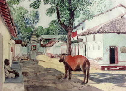 "Watercolour by W. Donkin ; "" Pimpalgaon """