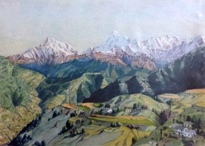 """Watercolour by W.Donkin ; """" Trisal """""""