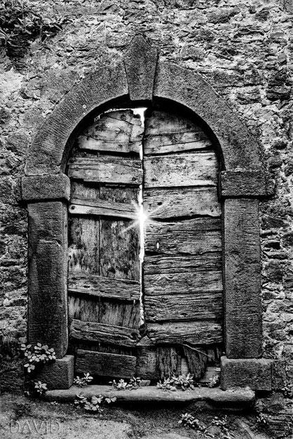 Tür rustikal Toskana Schwarz-Weiß