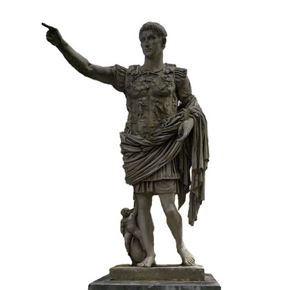 Kaiser Augustus im Panzer