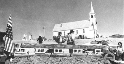 Wounded Knee bei der Besetzung 1973