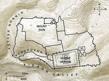 La géhenne désigne La Vallée de Hinnom, en grec Géenna, une vallée profonde et étroite au sud de Jérusalem. La vallée de Hinnom servait de dépotoir extérieur à la ville. Des feux y brûlaient continuellement afin de réduire la quantité de déchets.
