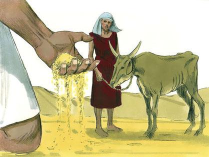 La misère spirituelle décrite par le prophète Amos.  Des jours viennent ', c'est là ce que déclare Jéhovah: vraiment j'enverrai une famine dans le pays, une faim, non pas de pain, et une soif, non pas d'eau, mais d'entendre les paroles de Jéhovah.'