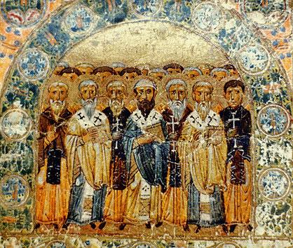 Les « Pères de l'Eglise » sont les auteurs chrétiens de l'Antiquité, généralement (mais non exclusivement) des évêques, qui se sont distingués par la qualité de leur écrits, le caractère exemplaire de leur vie et l'approbation postérieure de l'Eglise.