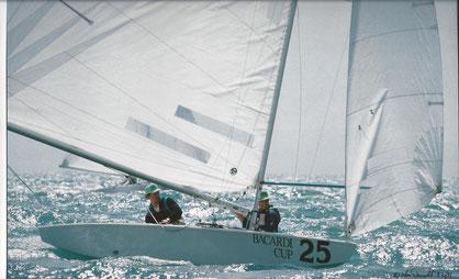 Joachim Hellmich und Martin Nixdorf beim Bacardi Cup 1991