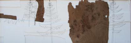 Wo ist der Wolf 153 x 53 Holz, Draht