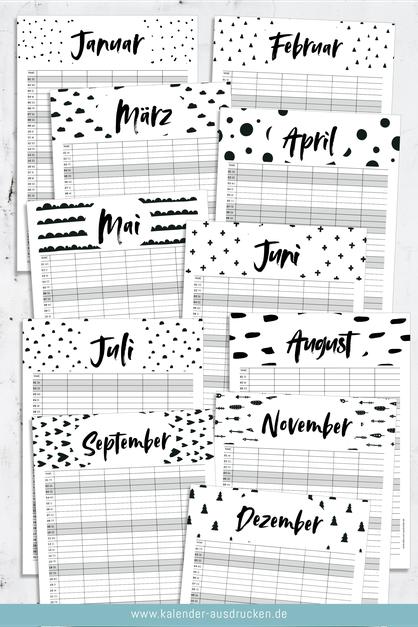 Familienplaner zum Ausdrucken. Mit 6 Spalten für die Termine der ganzen Familie. Jetzt zum Downloaden und Ausdrucken auf www.kalender-ausdrucken.de
