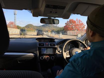 郡上までの道中も紅葉が楽しめて、空も真っ青で最高!!秋もいい!!