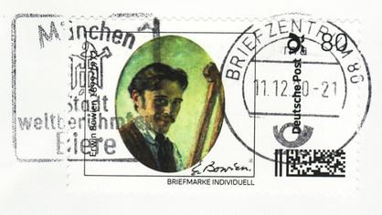 Erwin Bowien (1899-1972) - abgestempelte Briefmarke