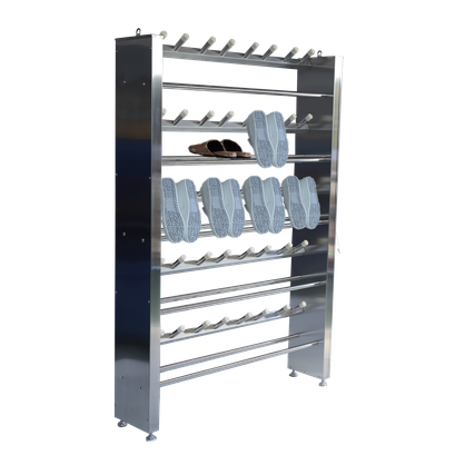 Stainless steel shoes rack for food factory