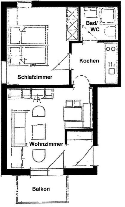 Wertach-Ferienwohnungen.de  Grundriss der Ferienwohnung Wolfsbau