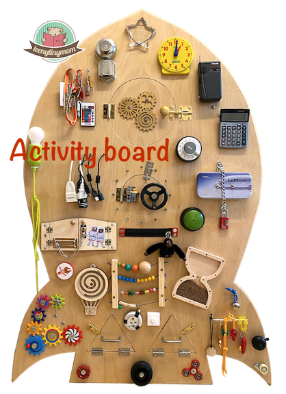 Busy board, Activity board, Montessori Spielbrett, Haptik, Motorik, busyboard, fidgetboard, finemotorskills, earlylearning, woodentoy, handmade, sensoryplay, beschäftigungfürkinder, diy, bedürfnisorientiert, kleinkind, toddler, selbstgemacht