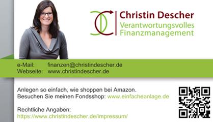Finanzcoaching Finanzen Geld Zinsen Rendite Geldanlage Verantwortungsvolles Finanzmanagment Christin Descher