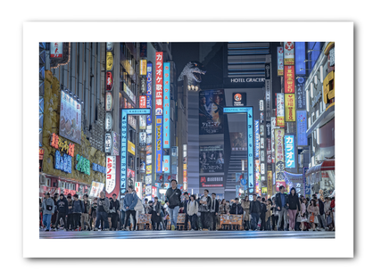Japan, Photography, Fine Art Print, Shinjuku, Godzilla
