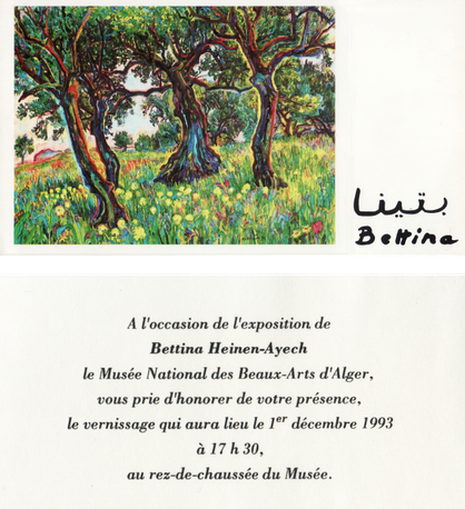 Invitation card National Museum Algiers