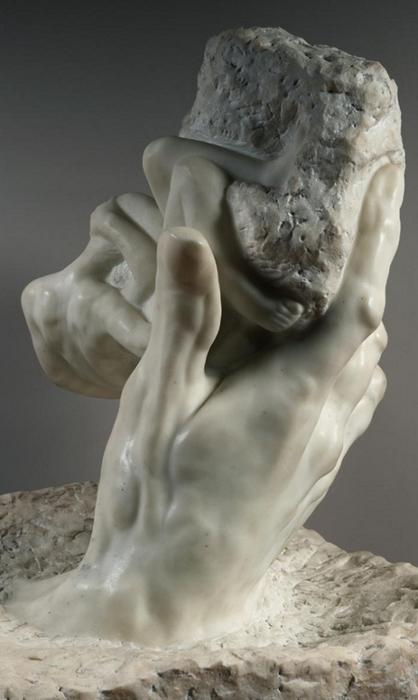 """A. Rodin, """"La mano di Dio"""", (1898)"""