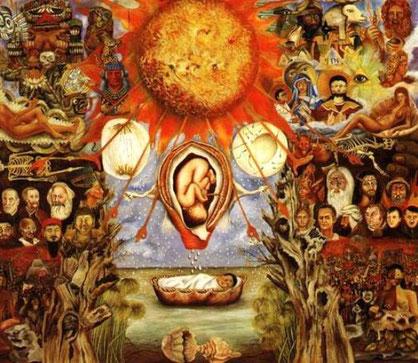 """Frida Kahlo's maleri """"Moses"""""""