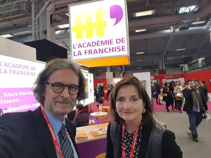 Thomas Matla & Prof. Veronika Bellone auf der Franchise Expo Paris, am 26.03.2018 © Bellone Franchise Consulting GmbH