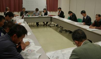 自治体キャラバンの事前学習する参加者