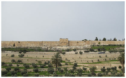 The gates of Mercy and the wall of the Old city of jerusalem