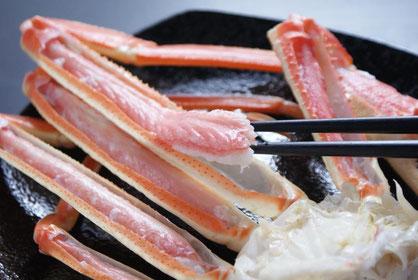 ジューシーな甘みが美味しい天たつのズボガニは2014年2月1日に漁が解禁し3月中旬頃までの販売となります