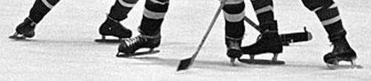 Alte Eishockeyschlittschuhe
