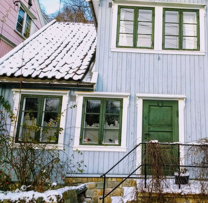 Gorgeous traditional houses of Oslo, Norway
